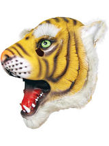 Full Head Rubber Latex Animal Tiger Mask Safari Fancy Dress Halloween Wild Cat