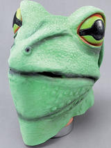 Frog Toad Head Mask Rubber Latex Panto Fancy Dress Prop Riverside Masquerade