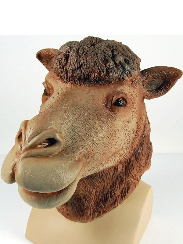 Desert Camel Animal Party Full Overhead Latex Fancy Dress Rubber Mask New Arabia