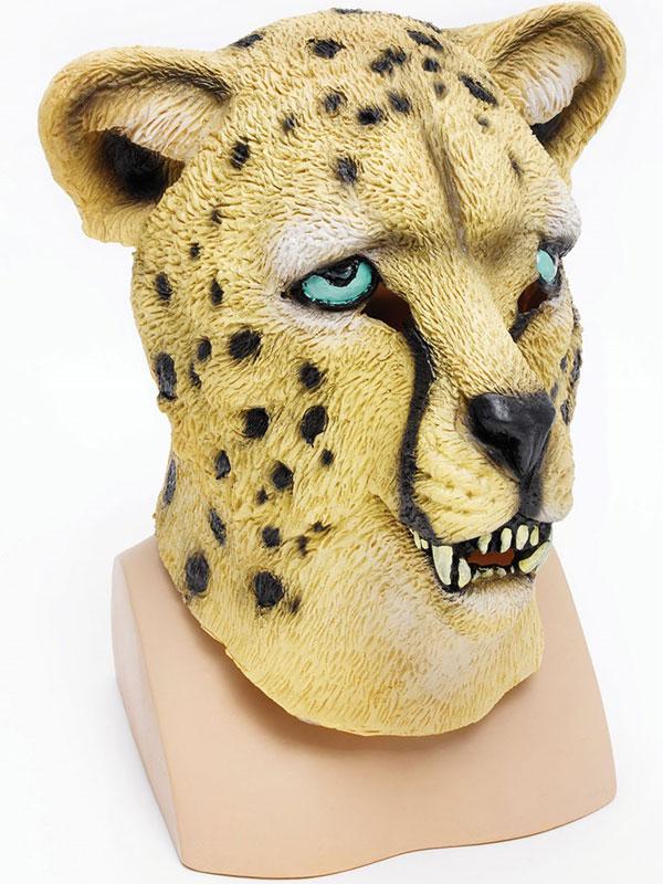 Leopard Rubber Latex Animal Cheetah Mask Safari Fancy Dress Halloween Wild Cat