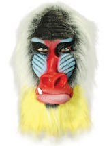 Adult Baboon Monkey Ape Mask Overhead Animal Rubber Latex Fancy Dress African