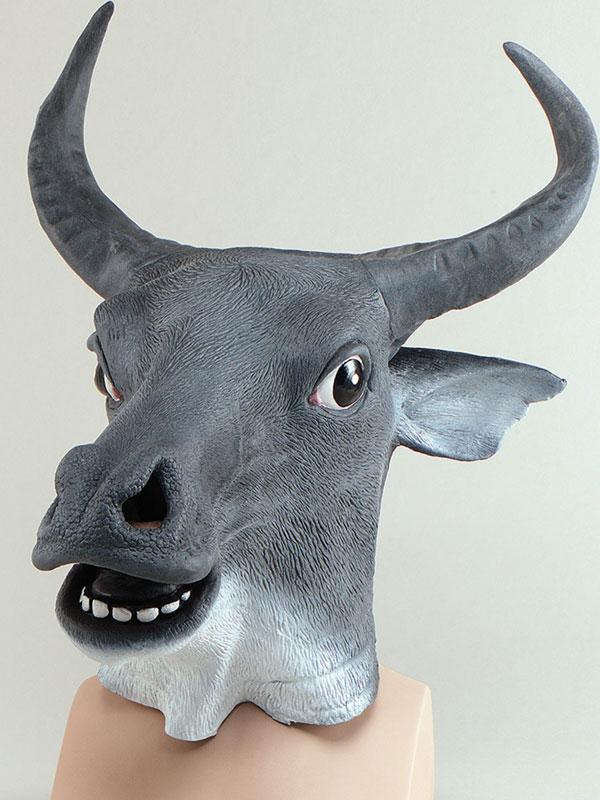 Ox Cow Head Mask Rubber Latex Panto Fancy Dress Prop Halloween Party