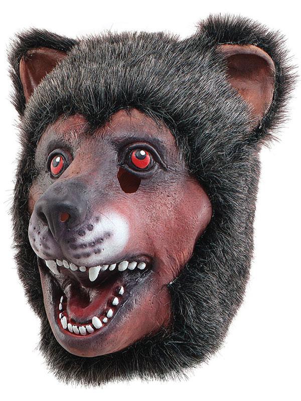 Full Rubber Latex Animal Brown Bear Mask Safari Fancy Dress Halloween Grizzly