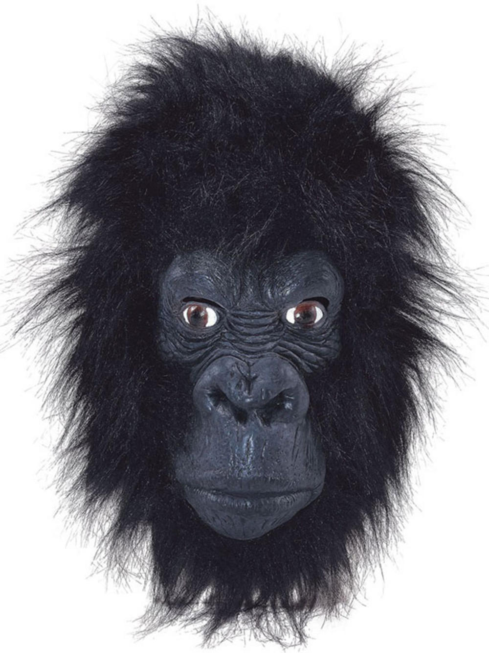 Gorilla Full Overhead Fur Latex Rubber Monkey Fancy Dress Zoo ...