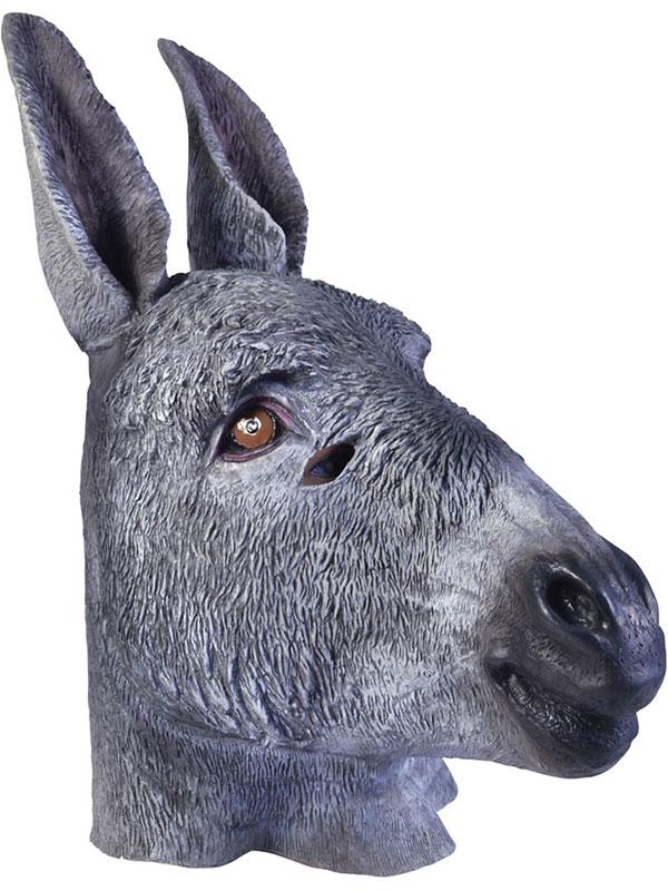 Donkey Head Mask Rubber Latex Panto Fancy Dress Prop Party Christmas Xmas