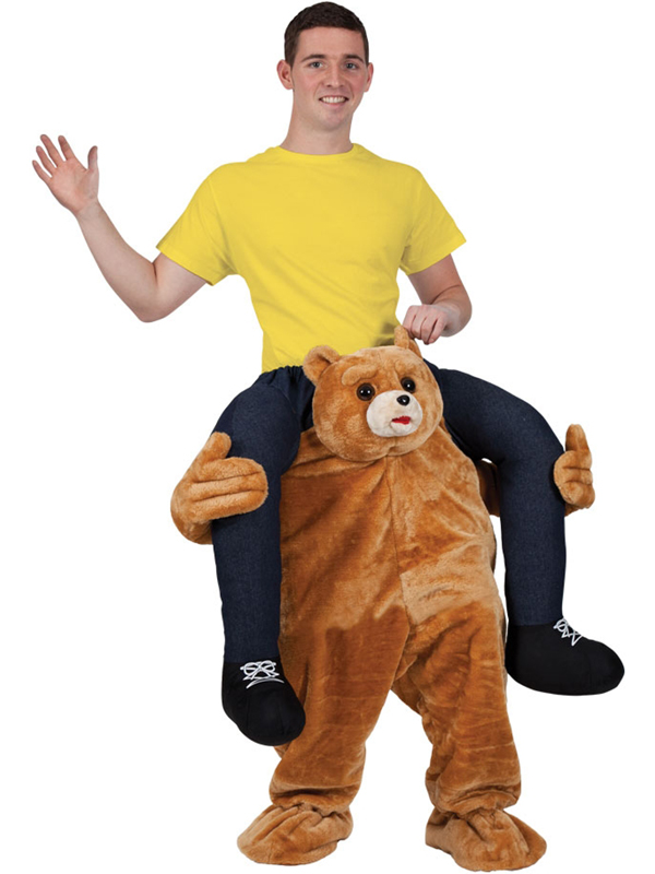 Carry Me Piggy Back Ride On Novelty Teddy Bear Stag Mascot Fancy Dress Costume