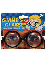 View Item Giants Glasses Nerd Geek Specs Thick Bottle Lenses Fancy Dress Accessory New