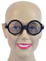 View Item Broken Lens Round Nerd Geek School Boy Glasses Specs Fancy Dress Accessory New