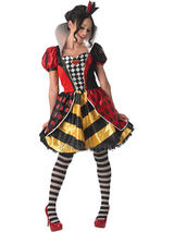 View Item Adult Queen Of Hearts Outfit Fancy Dress Costume Storybook Ladies Book Week Day