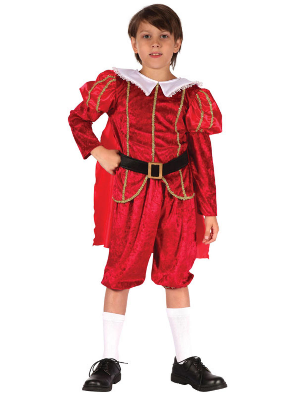 child boys tudor red prince costume outfit fancy dress