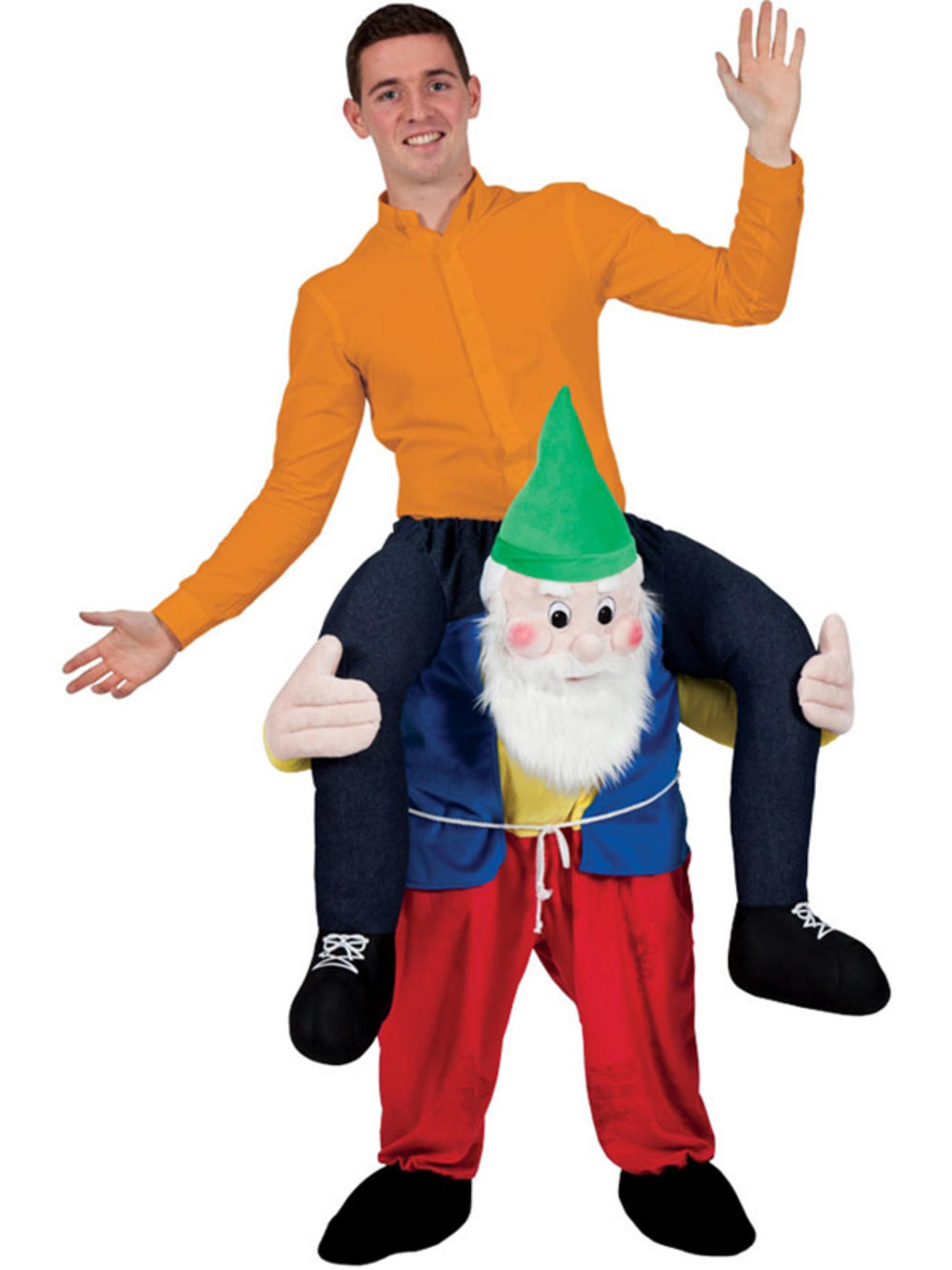 Carry Me Gnome Funny Adults Mascot Fancy Dress Up Party