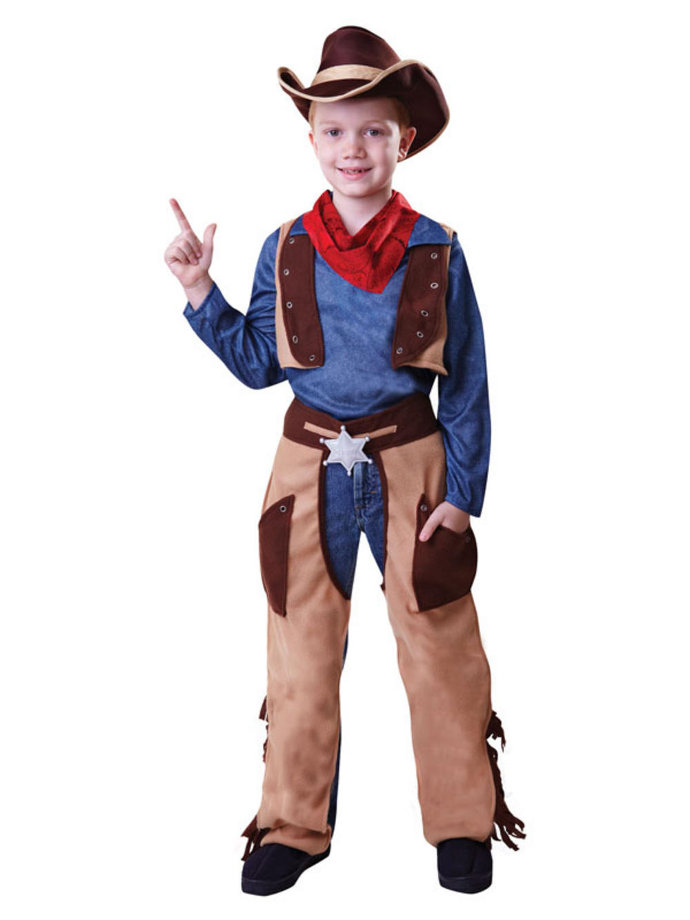Boys Kids Cowboy Outfit Fancy Dress Costume Children Party Rodeo ...