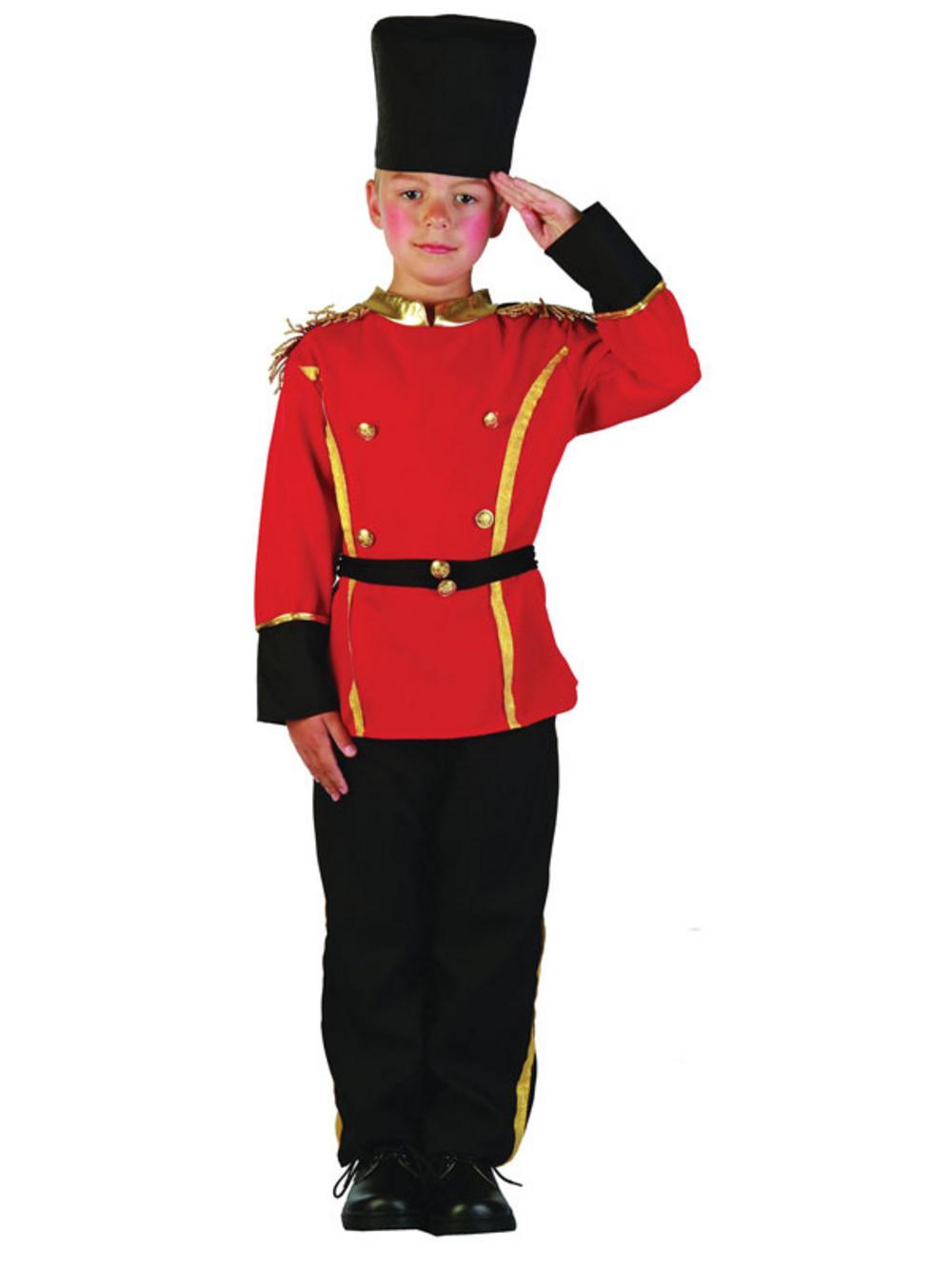 Boys Kids Queens Guard British Soldier Fancy Dress Up