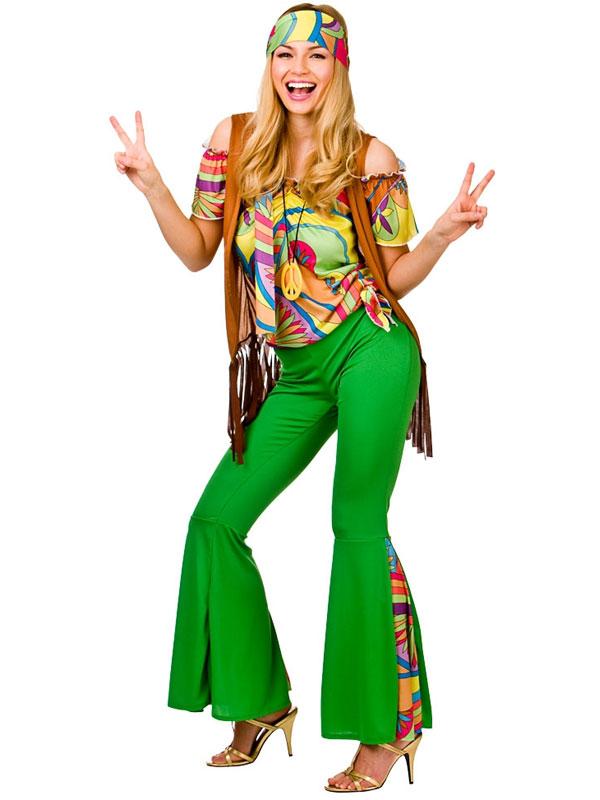 1960 s groovy lady fancy dress pour femme hippie costume 60s 70s hippie femmes costume ebay. Black Bedroom Furniture Sets. Home Design Ideas