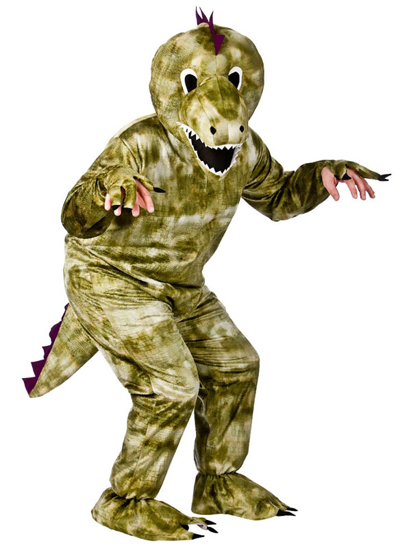 Adults Dinosaur Mascot Outfit Fancy Dress Up Costume One Size Fits Up To 6Ft 2""