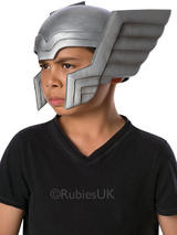 View Item Child Marvel Thor Helmet New Fancy Dress Avengers Assemble Initiative Kids Boys