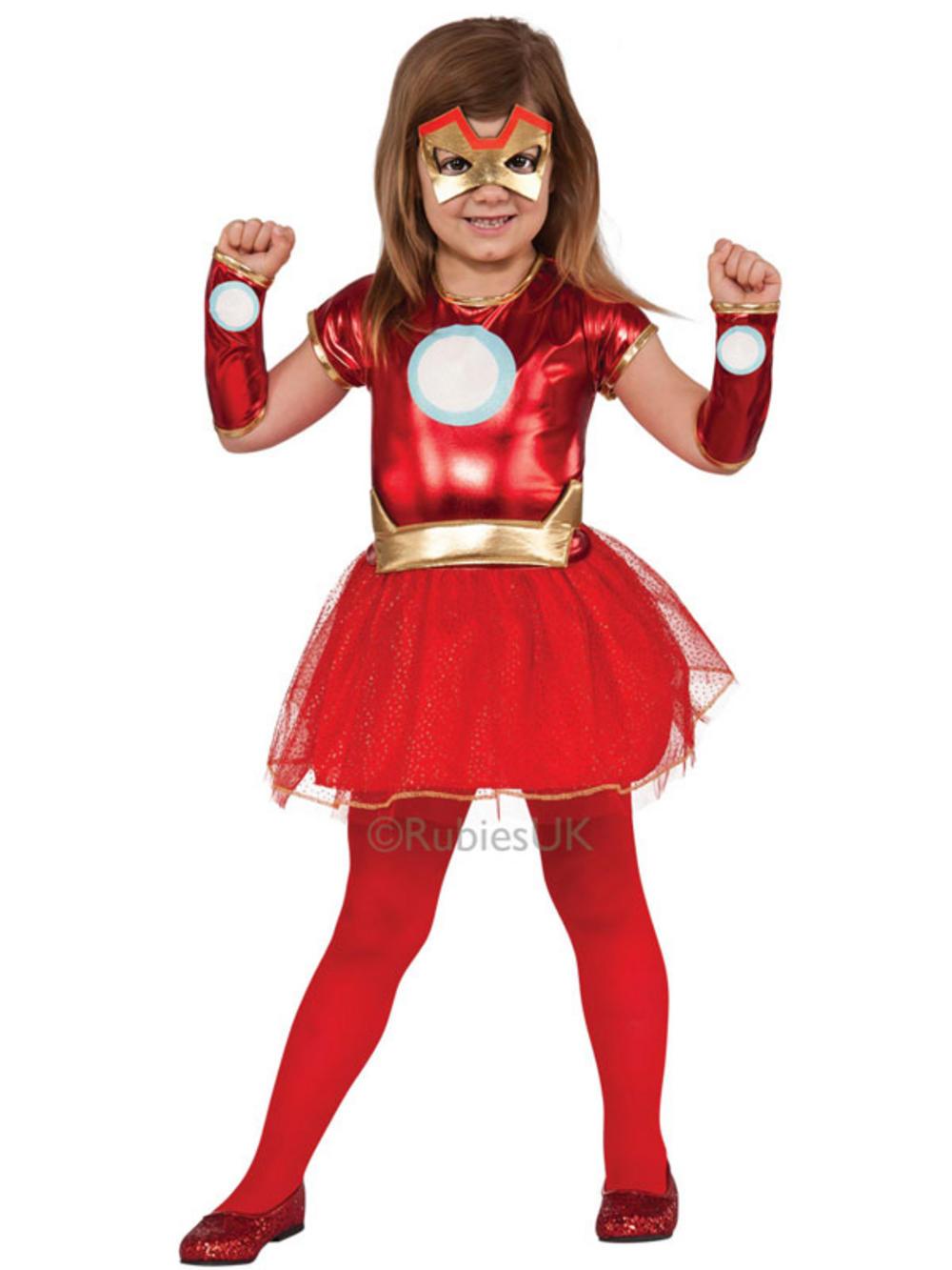 iron man costume girls kids pepper potts superhero rescue tu tu fancy dress