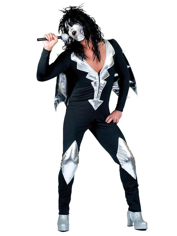 1960s glam rock jumpsuit adult costume fancy dress costume