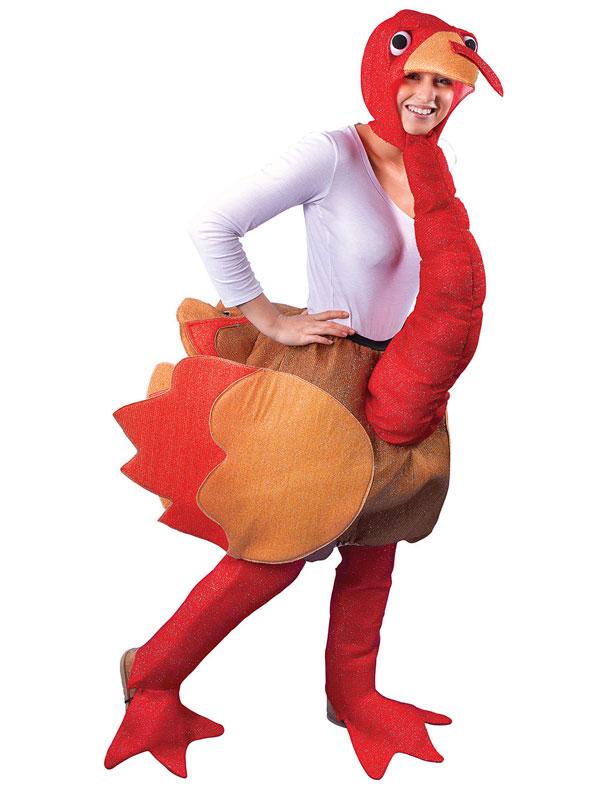 Funny Novelty Christmas Ride On Thanksgiving Turkey Fancy Dress ...