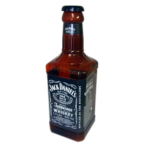 giant jack daniels money bottle huge savings piggy bank