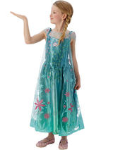 Child Princess Frozen Fever Deluxe Elsa Snow Queen Fancy Dress Costume Princess