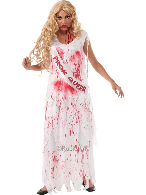 Bloody Teen Prom Queen Scream Halloween Fancy Dress ...