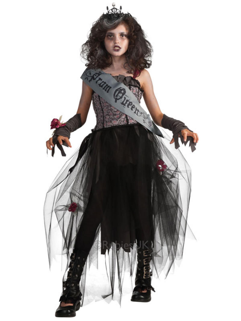 Prom Queen Gothic Scary Zombie Vampire Fancy Dress
