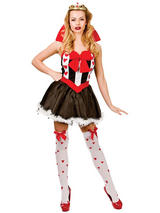 View Item Adult Fairytale Queen Of Hearts Outfit New Fancy Dress Costume Storybook Ladies