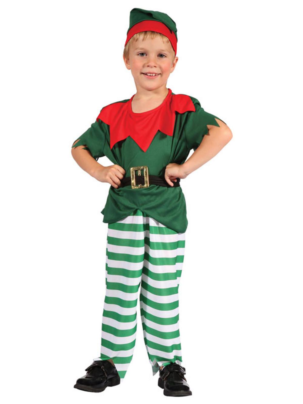 Toddler Kids Elf Costume Kids Boys Christmas Fancy Dress Santa ...