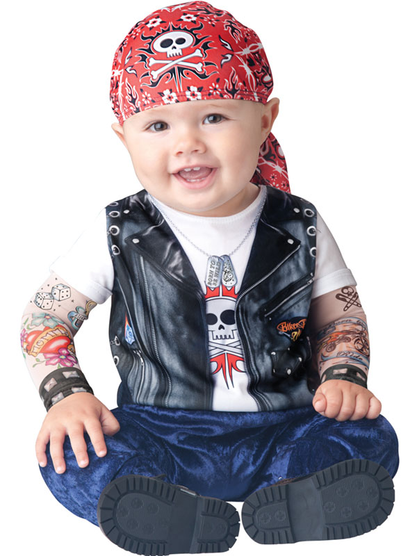 born to be wild biker kleinkinder punk rocker baby junge kost m s l 6 monate 2 ebay. Black Bedroom Furniture Sets. Home Design Ideas