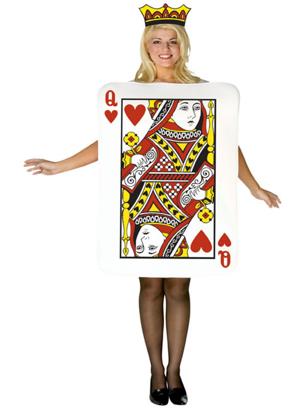 womens queen of hearts poker playing card halloween fancy