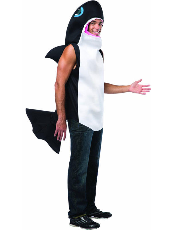 Adult Killer Whale Outfit Fancy Dress Costume Orca Sea