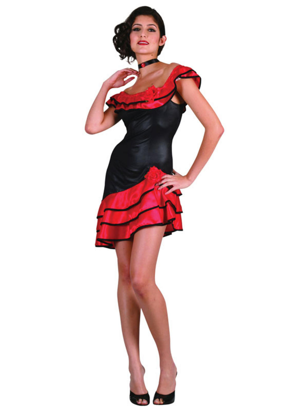 Spanish Ladies Senorita Rumba Salsa Fancy Dress Outfit