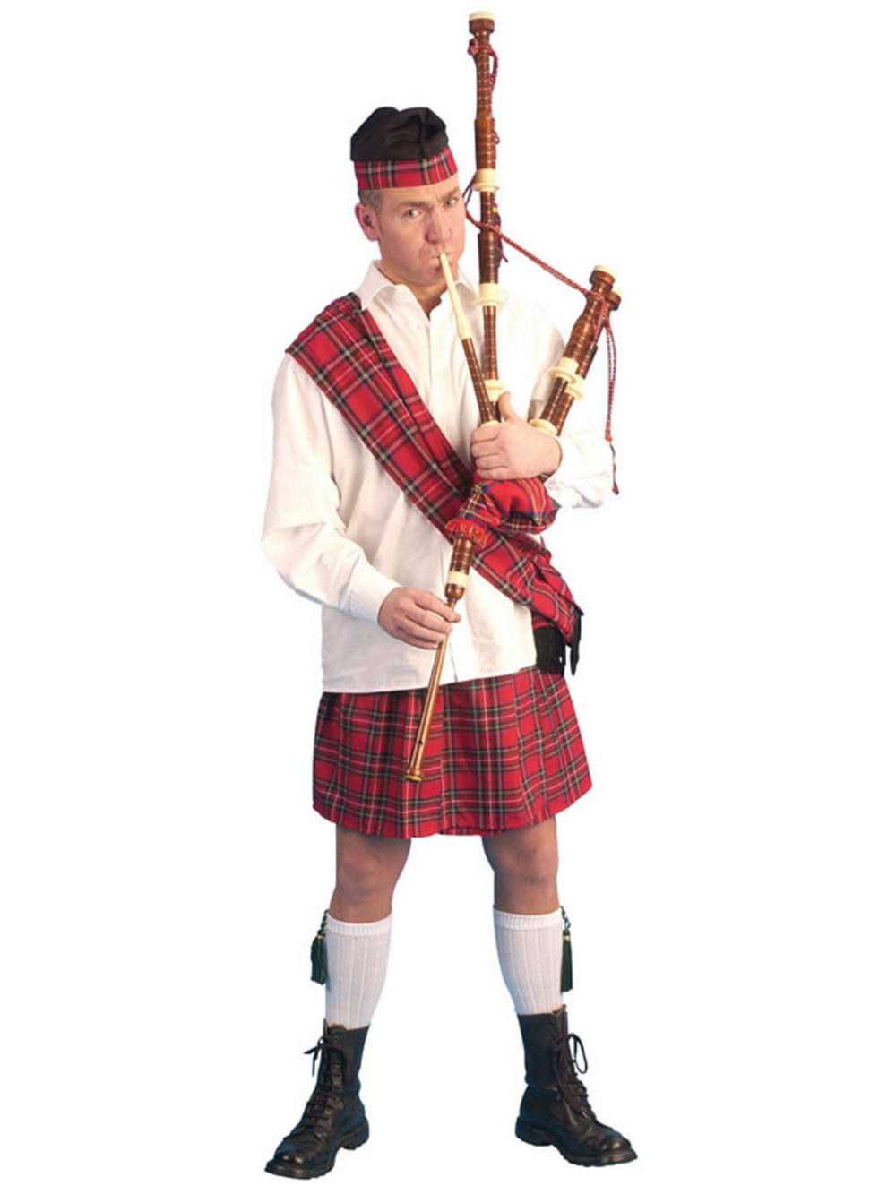 Mens Scotsman Scots Kilt Sporran Hogmanay Costume Fancy ...
