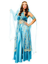 View Item Arabian Indian Bollywood Queen One Size Womens Fancy Dress Harem Belly Dancer