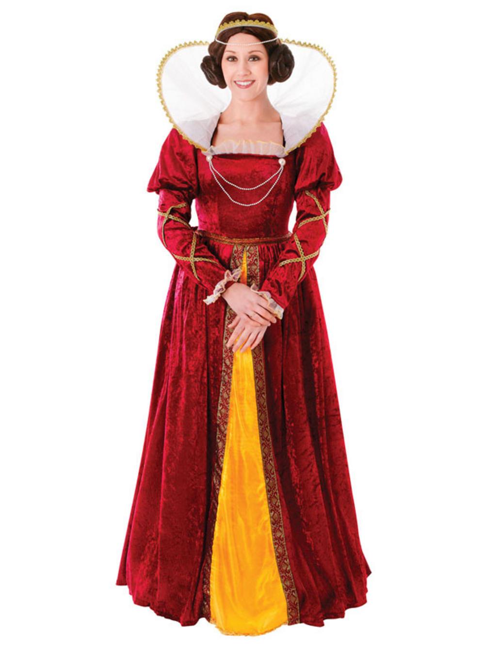 Adult Queen Elizabeth Costume Tudor Blackadder Ladies