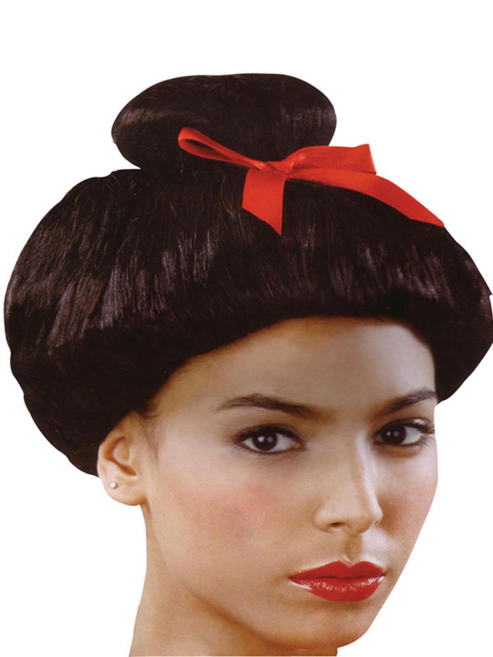 Oriental Girl Black Wig 13