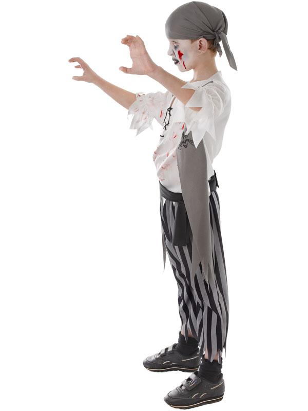 Garçons enfants coupe gorge Pirate Halloween Horreur Zombie Costume Robe fantaisie 3-10