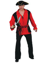 View Item Mens Caribbean Pirate Captain Mate Costume Adult Fancy Dress Outfit Halloween