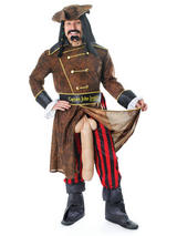 View Item Deluxe Captain John Longfellow Rude Pirate Fancy Dress Stag Night Party Costume