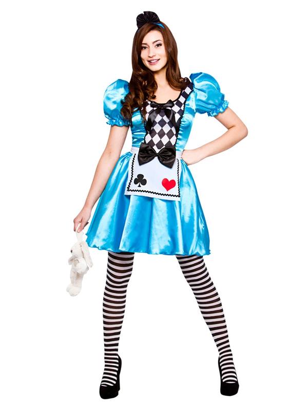 Ladies Storybook Alice in Wonderland Adult Womens Fancy Dress ...