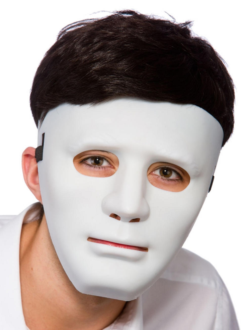 White Crew Hip Hop Dance Face Mask Halloween Masquerade Festival ...