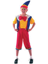 View Item Child Pinocchio Costume Boys Fairytale Puppet Fancy Dress Book Week Outfit New