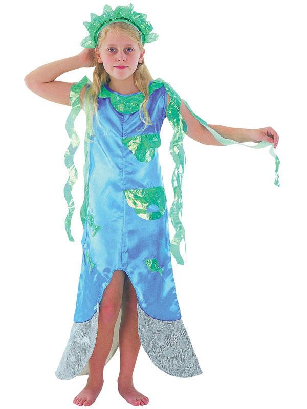 Little Mermaid Blue Dress Child Blue Little Mermaid