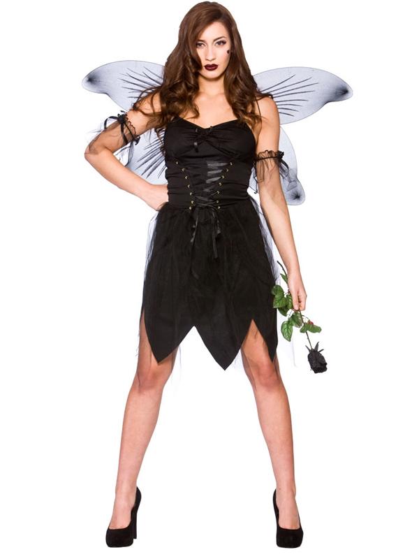 Onorevoli ADULTO NERO BAD Fairy Naughty Halloween ALI D/'ANGELO Costume