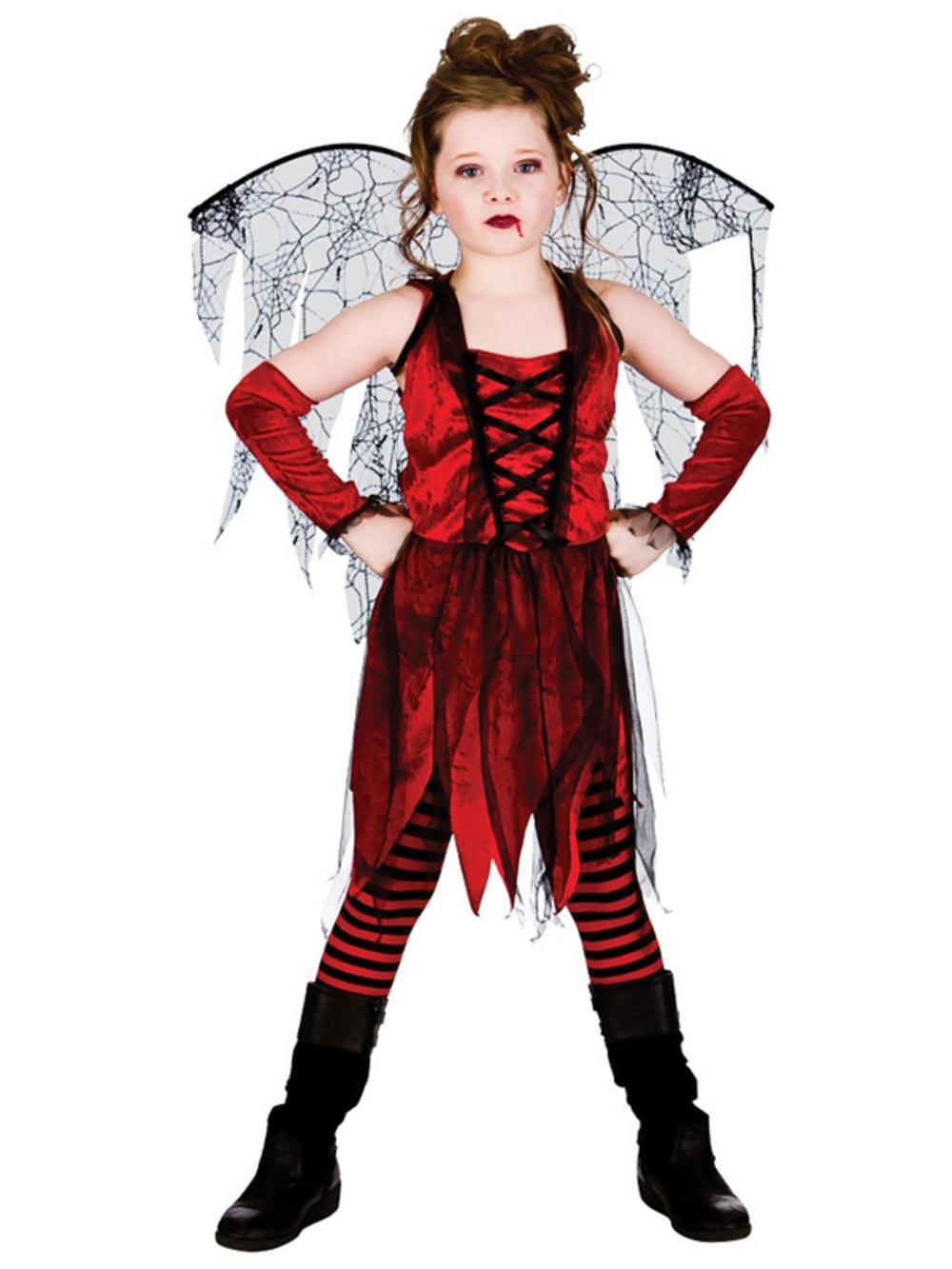 halloween girls fancy dress up horror vampire fairy scary kids costume ages 5 13 - Halloween Girl Dress Up
