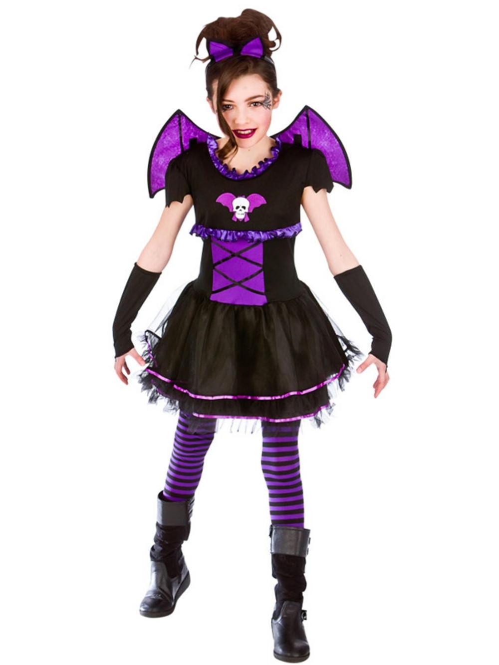 halloween girls fancy dress up horror ballerina bat scary