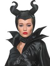 View Item Maleficent Horns Evil Black Queen Hat Headpiece Halloween Cosplay Headwear