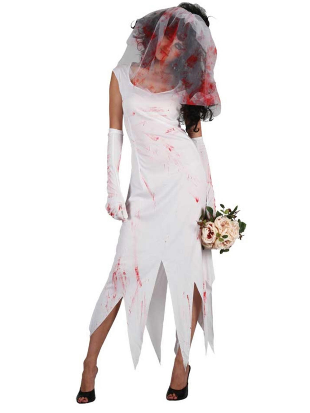 adult zombie bride costume ladies wedding halloween fancy. Black Bedroom Furniture Sets. Home Design Ideas