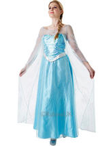 View Item Frozen Elsa Princess Ladies Cosplay Costume Outfit Fancy Dress & Cape Halloween